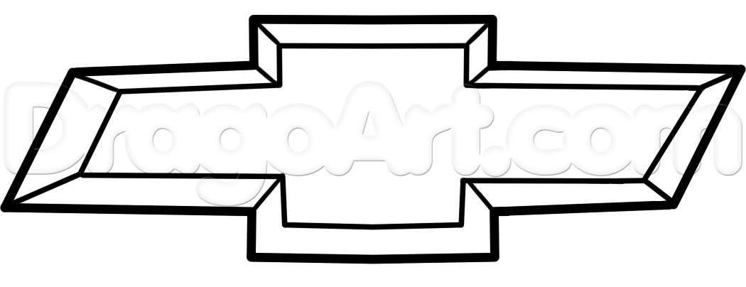 1050x404 Draw The Chevy Logo, Step