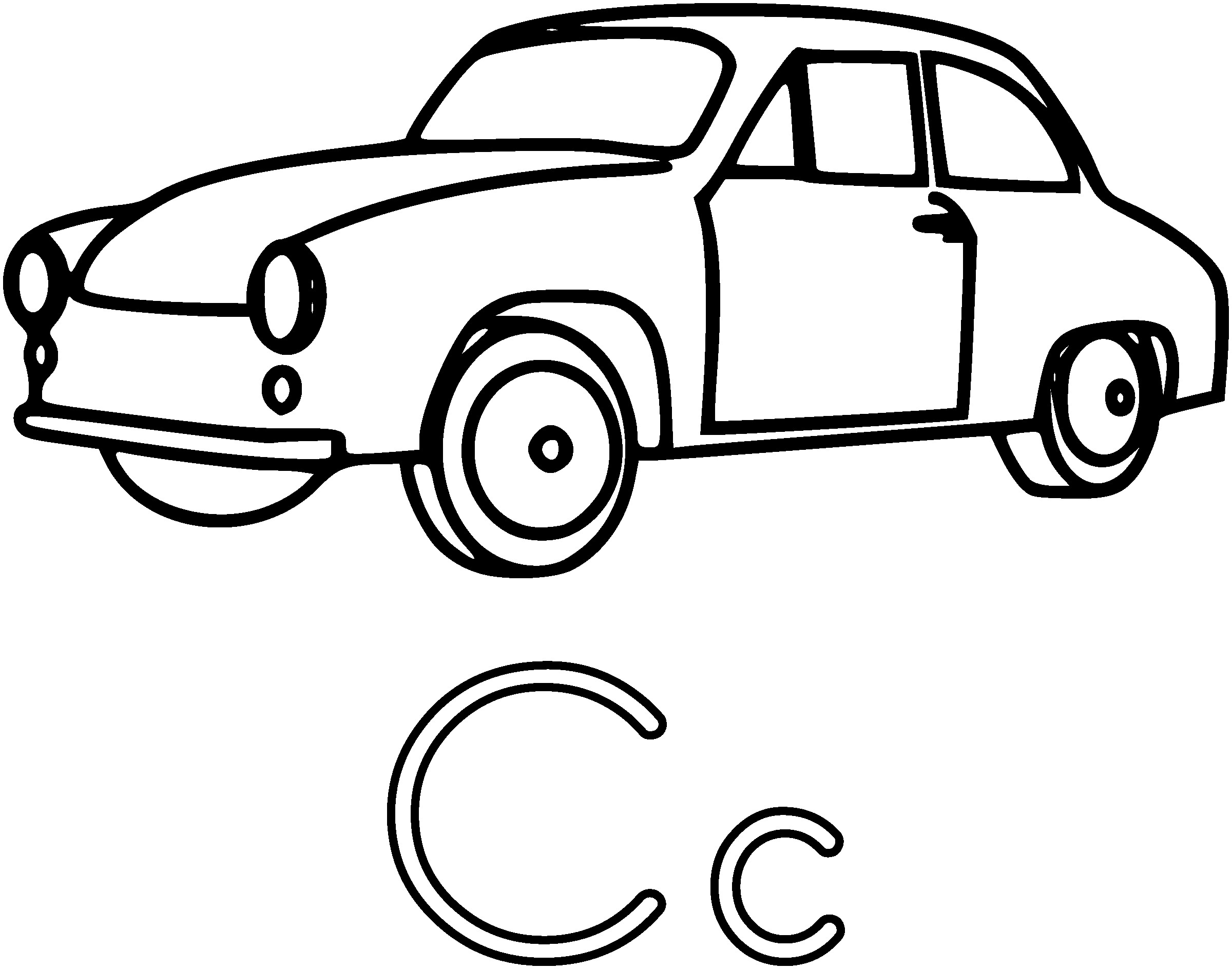 2400x1887 Car Clipart Black And White Outline In Car Clipart Black