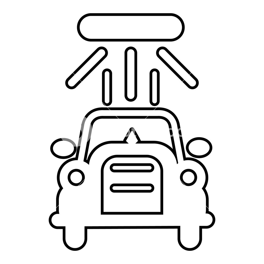 1000x1000 Car Wash Icon Outline Illustration Of Car Wash Vector Icon