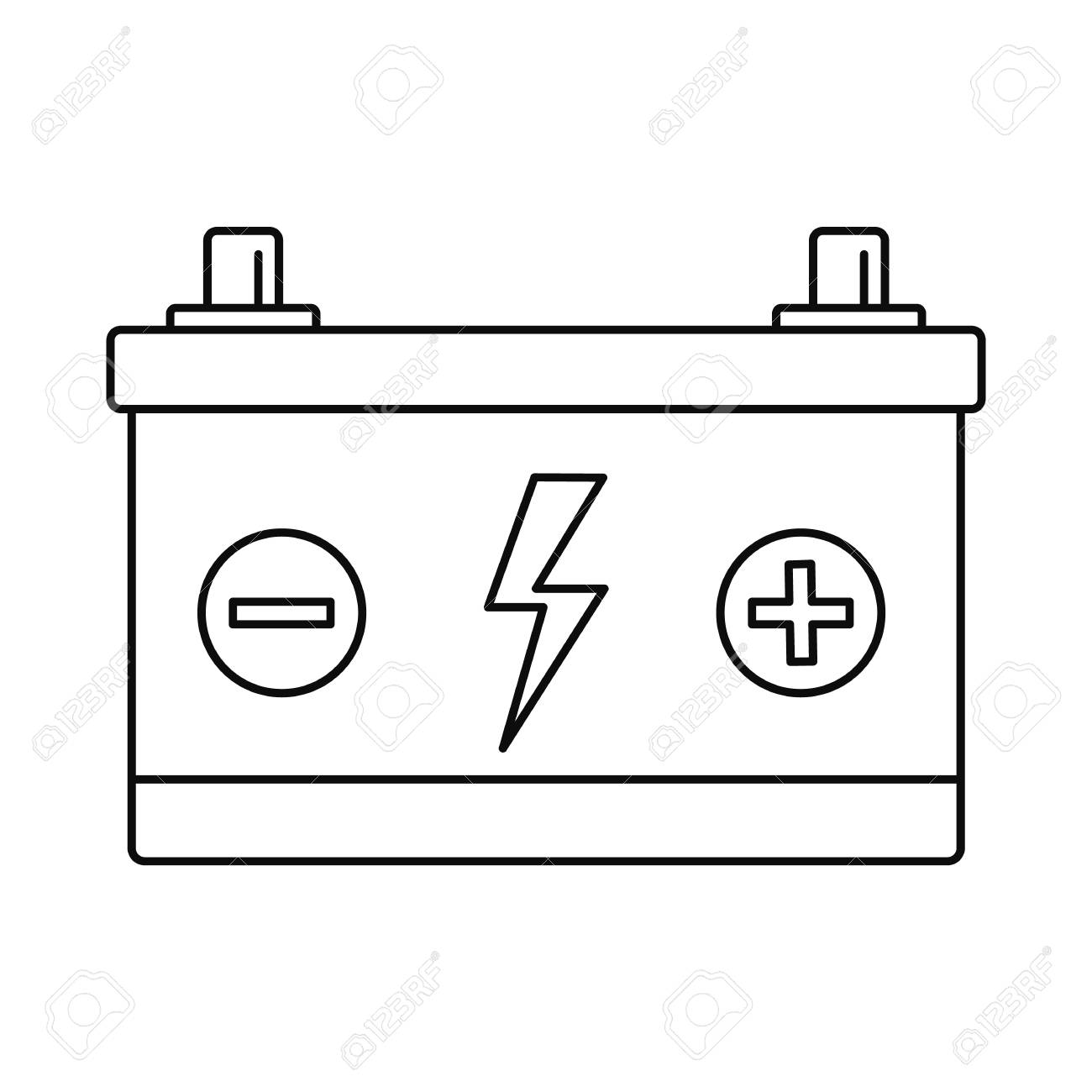 1300x1300 Huge Collection Of 'car Battery Drawing' Download More Than