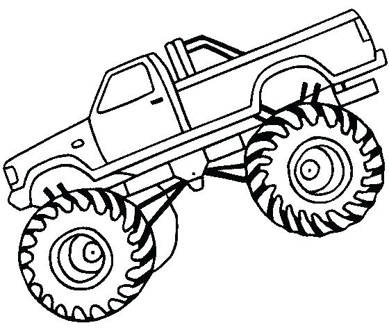560x475 Monster Truck Outline Chic And Creative Off Road Coloring