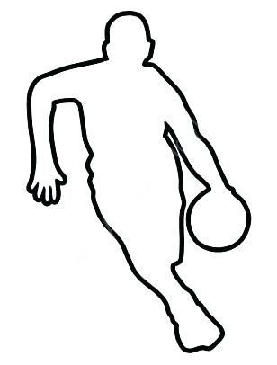 308x406 Outline Of Football Basketball Car Stickers Vinyl Decals Football