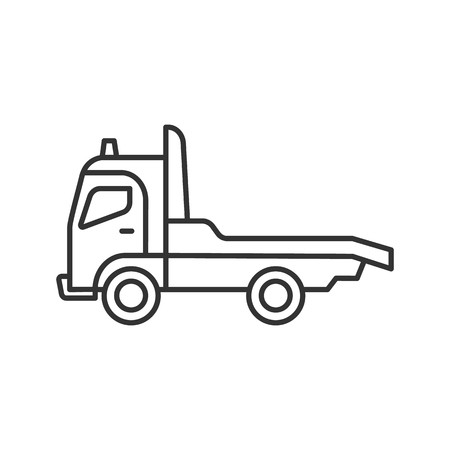 450x450 Tow Truck Linear Icon Thin Line Illustration Car Wrecker