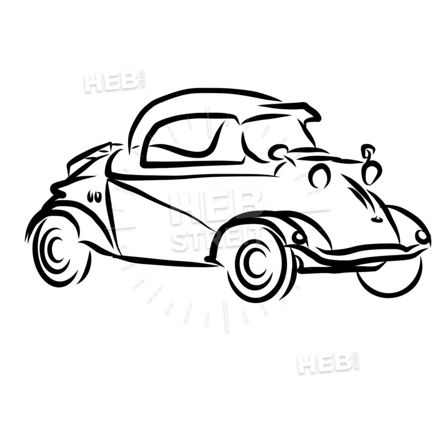 900x900 Vintage Concept Car Outline Sketch Hebstreits Sketches