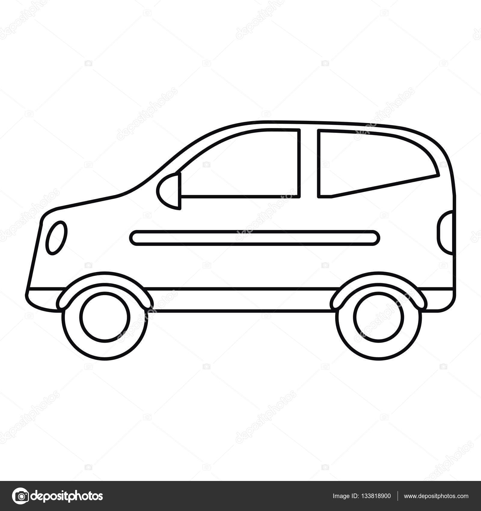 1600x1700 Hatchback Drawing Outline For Free Download