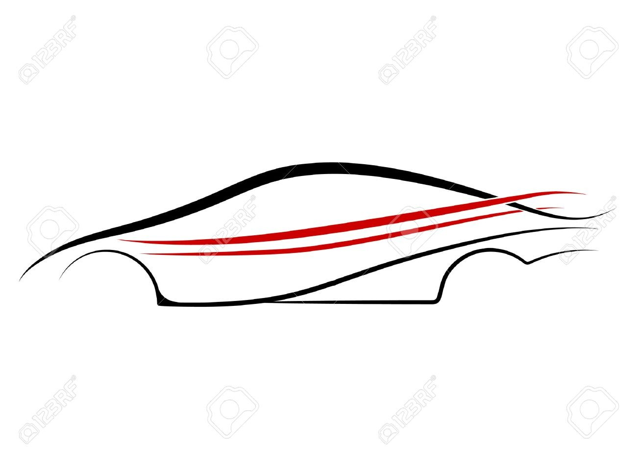 1300x967 Car Outline Design