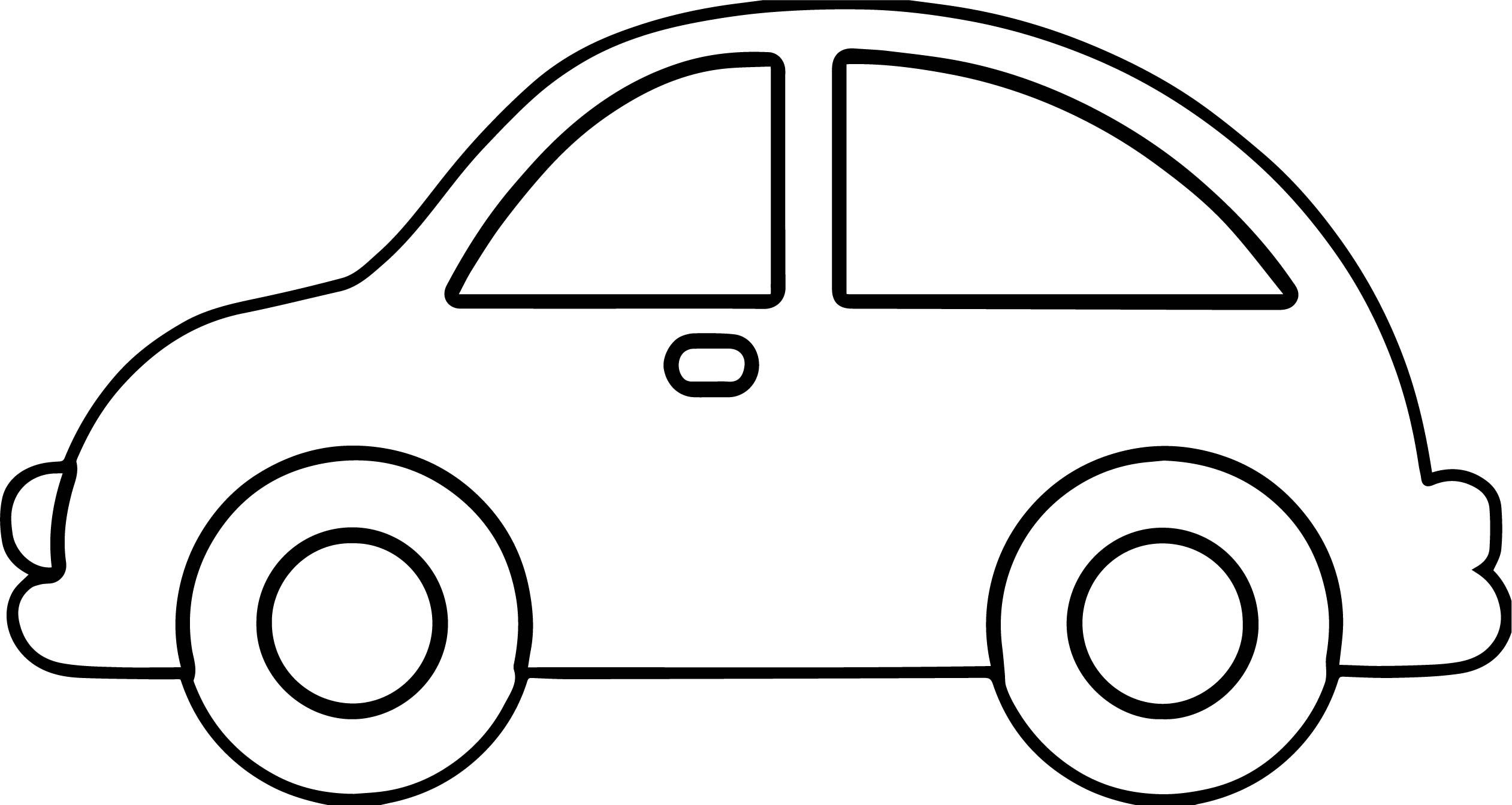2523x1344 Black And White Cartoon Car Car Outline Free Download Best Car