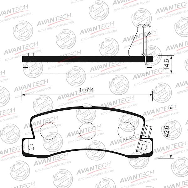 600x600 genuine avantech brake pads, set