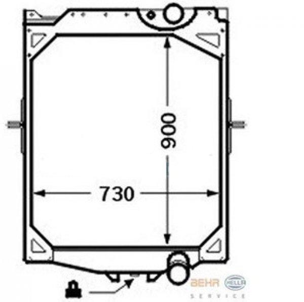 600x596 parts to suit trucks volvo spare car parts, volvo radiator