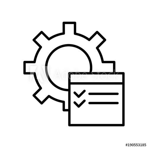 500x500 auto service contract, isolated icon on white background, auto