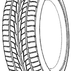 Car Tire Drawing