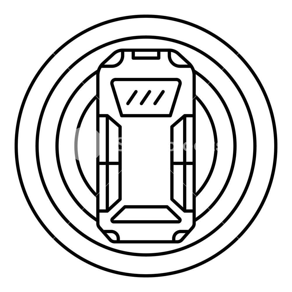 1000x1000 top view smart car icon outline top view smart car vector icon