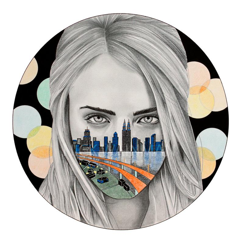 794x794 cara delevingne print limited edition etsy