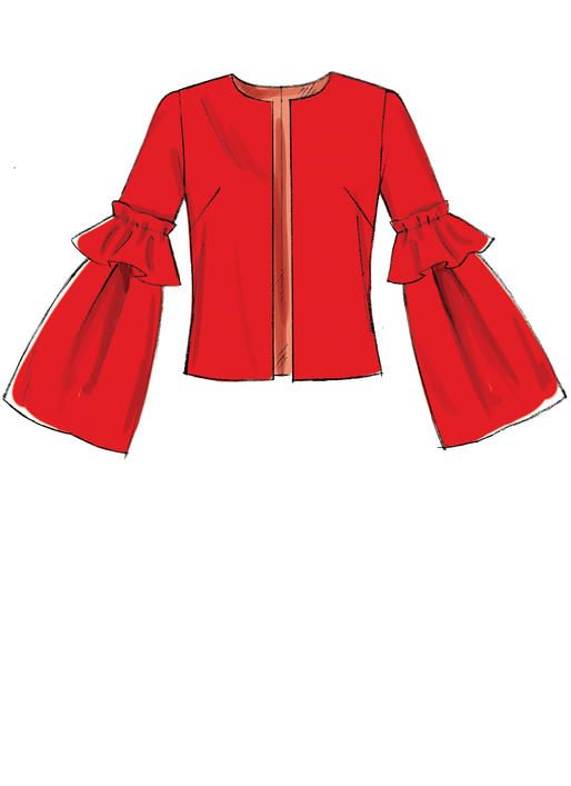 514x707 mccall's jacket sewing pattern with length and sleeve variations