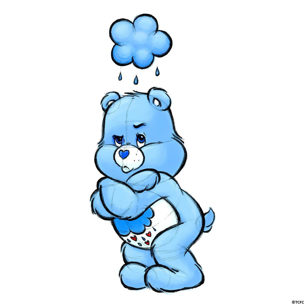 1263x1263 how to draw grumpy bear art care bear tattoos, grumpy care