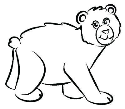 400x349 bear draw bear drawing polar bear drawing step