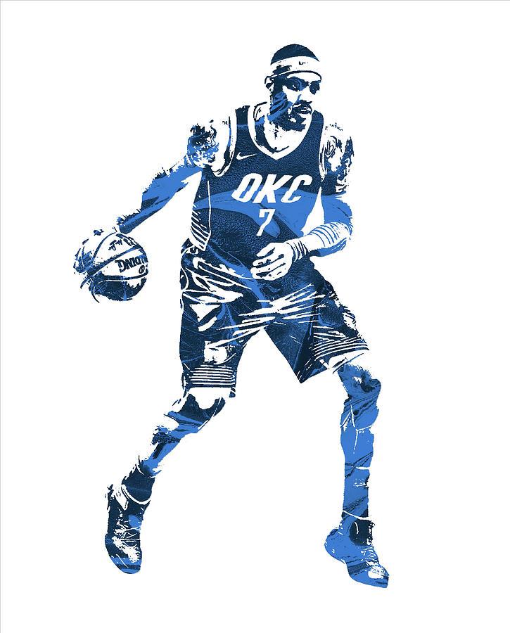 725x900 Carmelo Anthony Oklahoma City Thunder Mixed Media