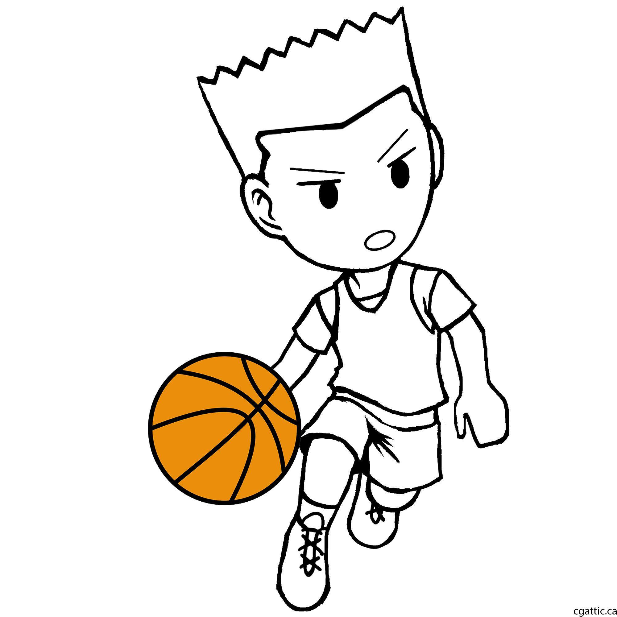 2000x2000 Basketball Player Drawing
