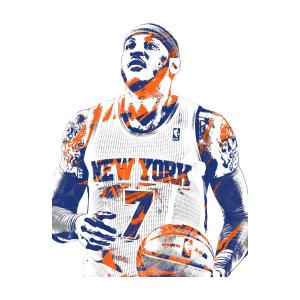 300x300 Carmelo Anthony New York Knicks Pixel Art Mixed Media