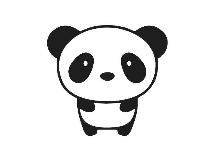 736x552 panda bear draw drawn panda cute panda panda bear drawing images