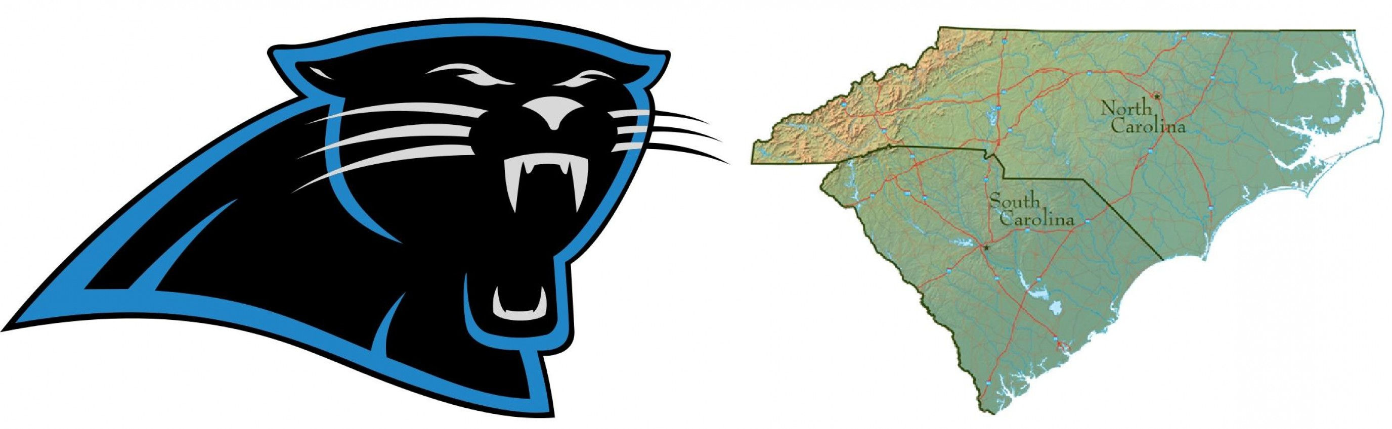 2752x849 Mesmerizing Carolina Panther Logo Panthers Alternate Drawing