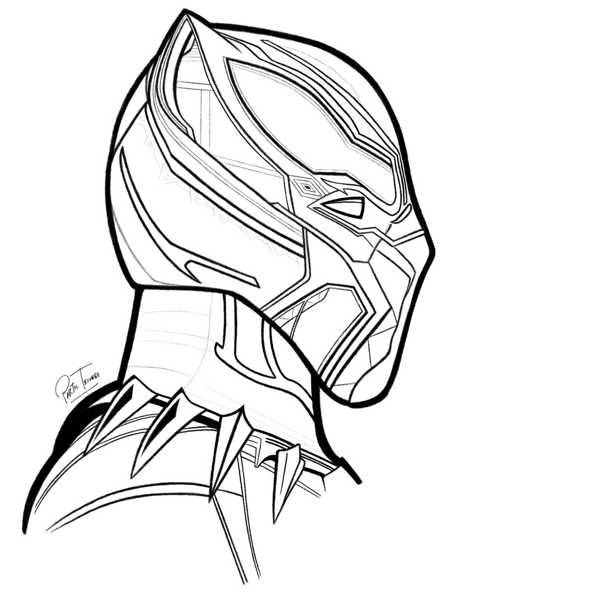 1200x1200 Panther Drawing Profile For Free Download