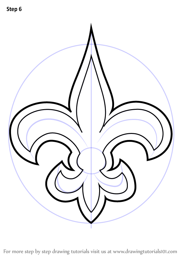 600x846 Learn How To Draw New Orleans Saints Logo