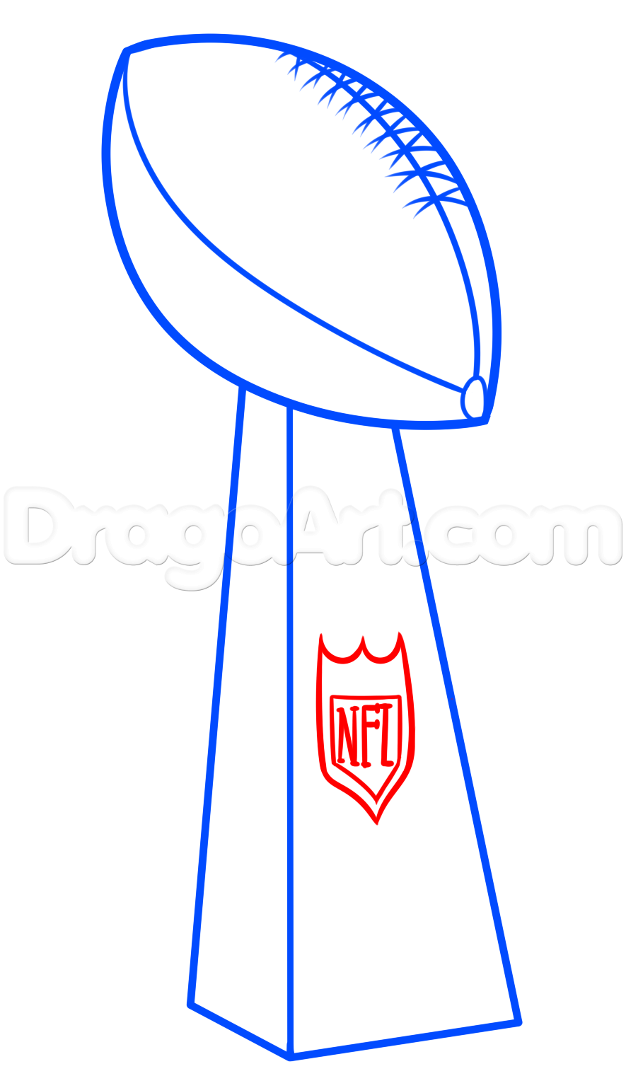 885x1521 Super Bowl Drawing Lesson, Vince Lombardi Trophy, Step