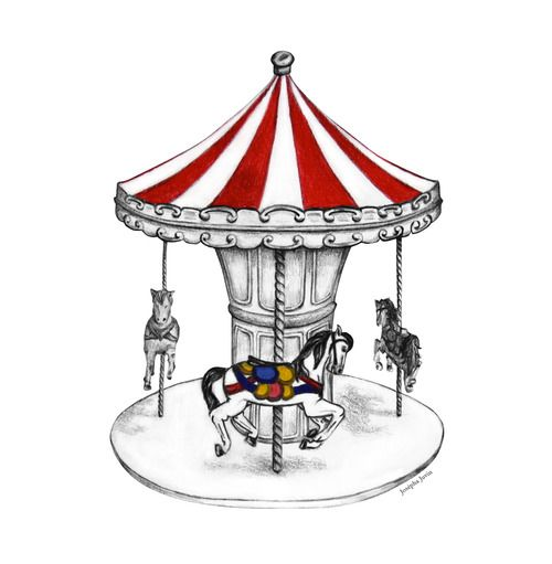 500x511 carousel drawing josepha juvin carousel in carousel