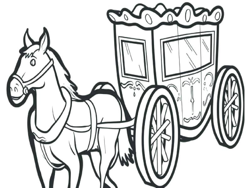 800x600 horse and carriage coloring pages princess and prince in carriage
