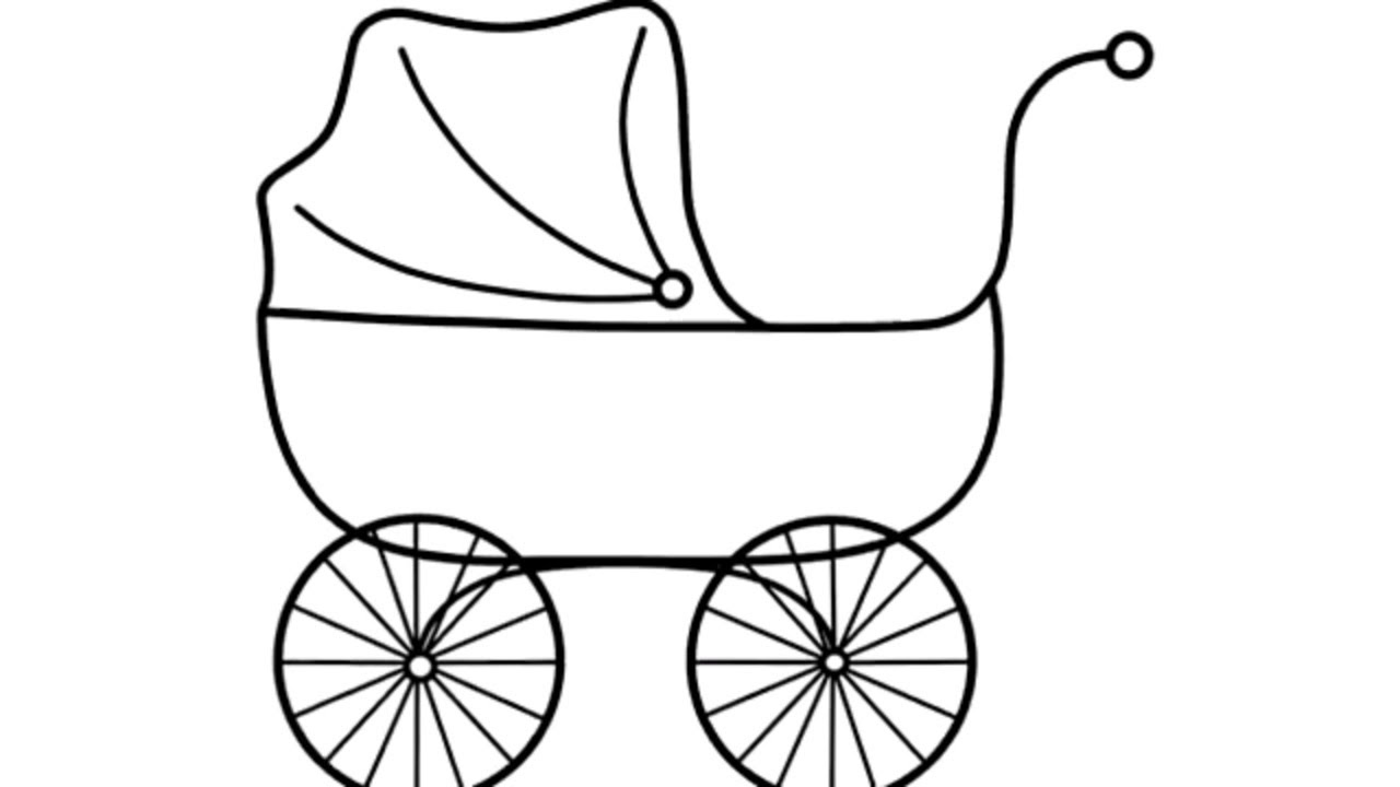 1280x720 learn draw color baby carriage coloring book for kids learn