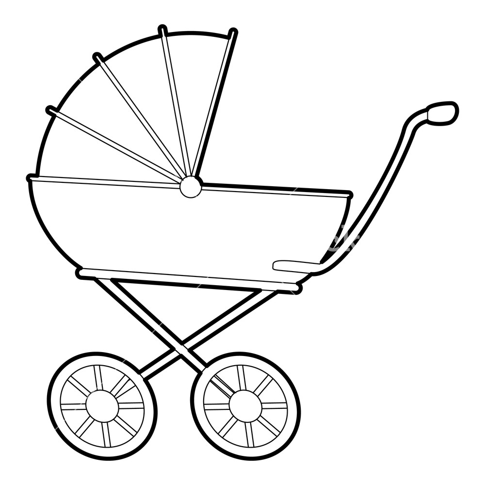 1000x1000 baby carriage icon isometric illustration of baby carriage