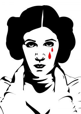280x392 Crying Leia, Inspired