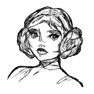 320x322 Carriefisher Drawings On Paigeeworld Pictures Of Carriefisher