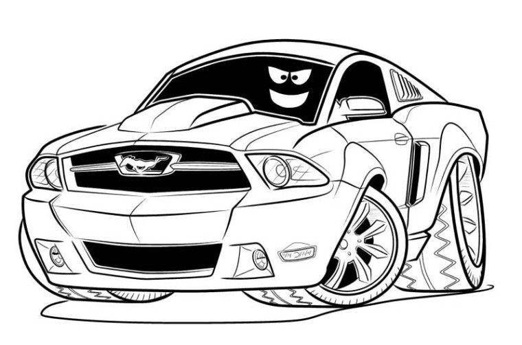 Cars Drawing Pages