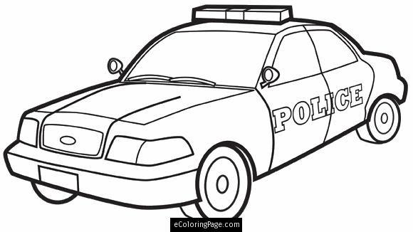 580x326 City Police Car Printable Coloring