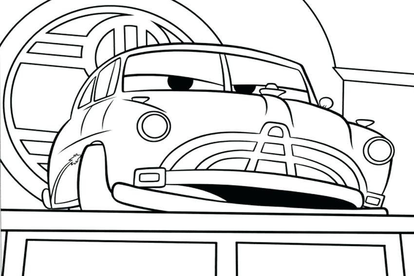 850x567 Coloring Car Pages Doc The Boss In Radiator Springs Cars Coloring