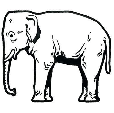 400x396 African Elephant Coloring