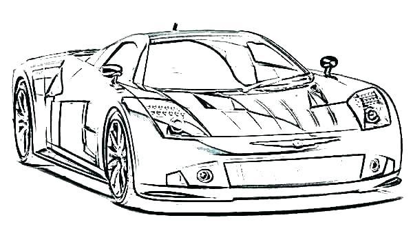 600x332 Race Car Coloring