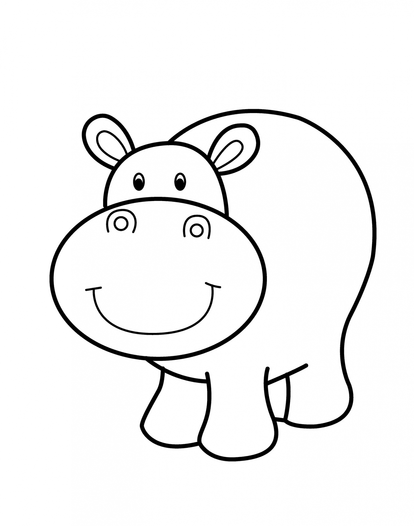 1423x1808 Cartoon Animal Drawings For Kids
