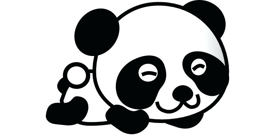 900x460 Cartoon Drawings Of Pandas Draw Cartoon Panda Bear