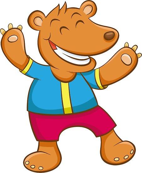 452x550 Cute Funny Cartoon Silly Teddy Bear Character Doodle Animal
