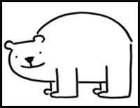 200x155 How To Draw Bears Drawing Tutorials Drawing How To Draw