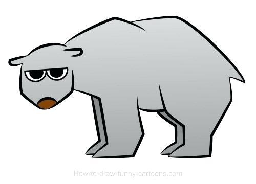 500x360 Simple Drawing Of A Bear Polar Bear Drawings Drawing Teddy Bears