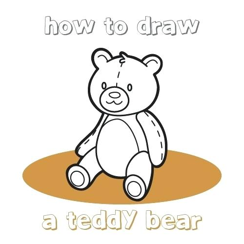 500x500 teddy bear drawings how to draw a teddy bear for kids cute teddy