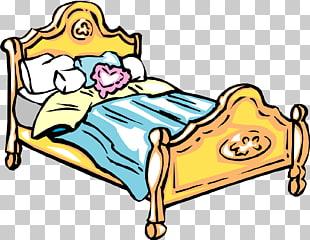 Cartoon Bed Drawing