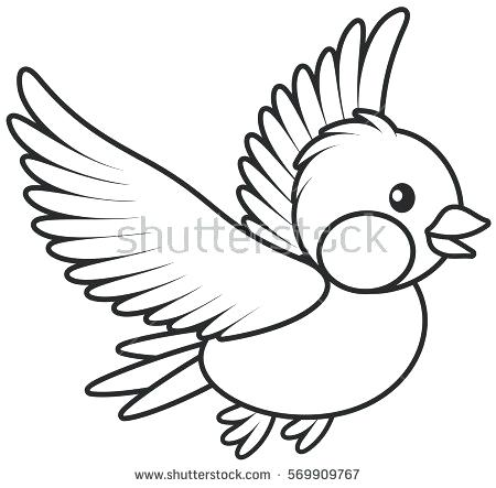 450x443 Draw Cartoon Bird How To Draw A Cute Bird Sitting In A Tree