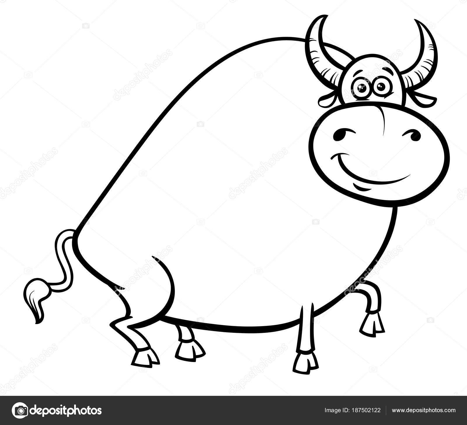 Cartoon Bull Drawing