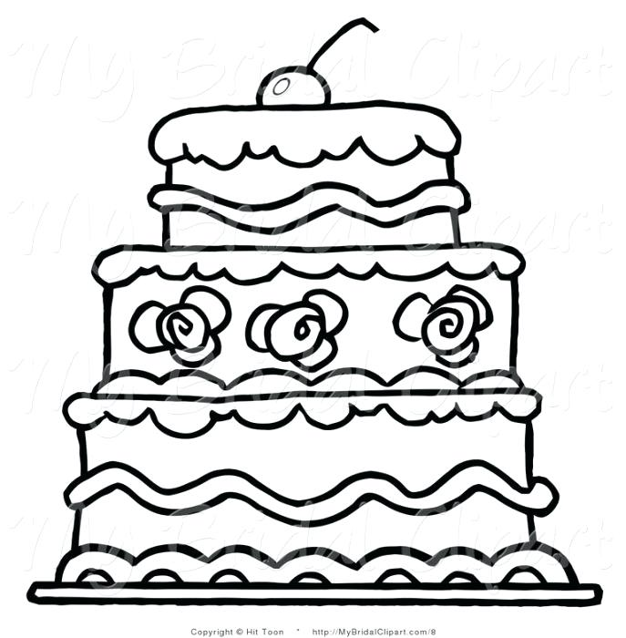687x700 drawing of cake wedding cake how to draw a cartoon birthday cake