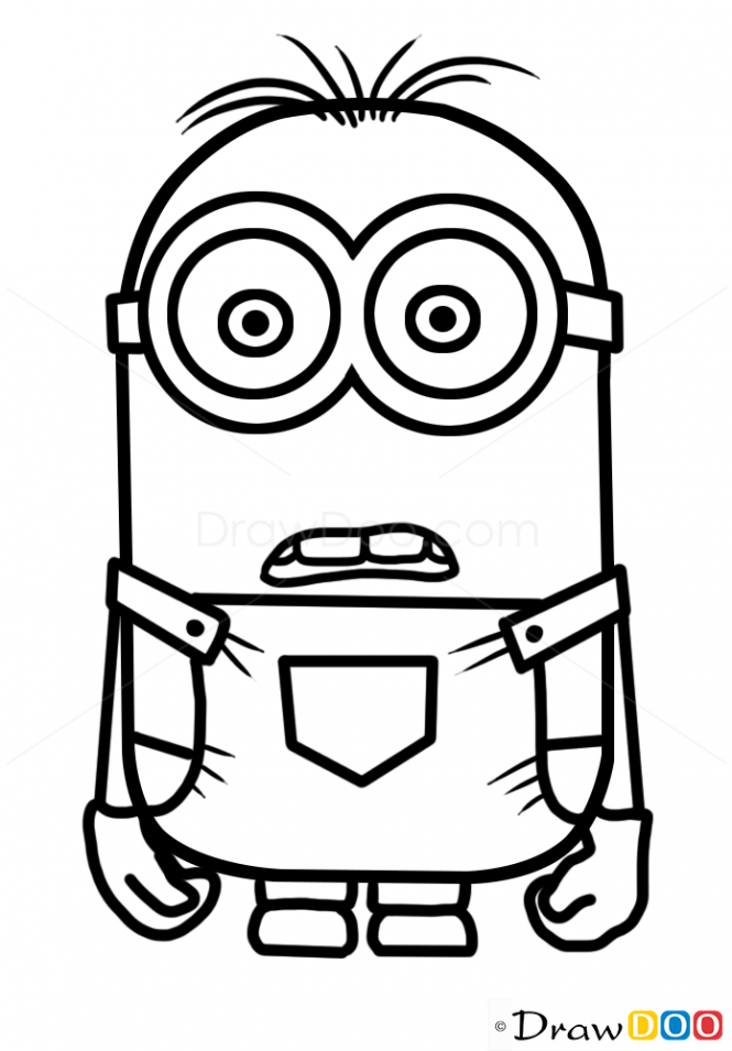 665x955 How To Draw Minion Dave, Cartoon Characters